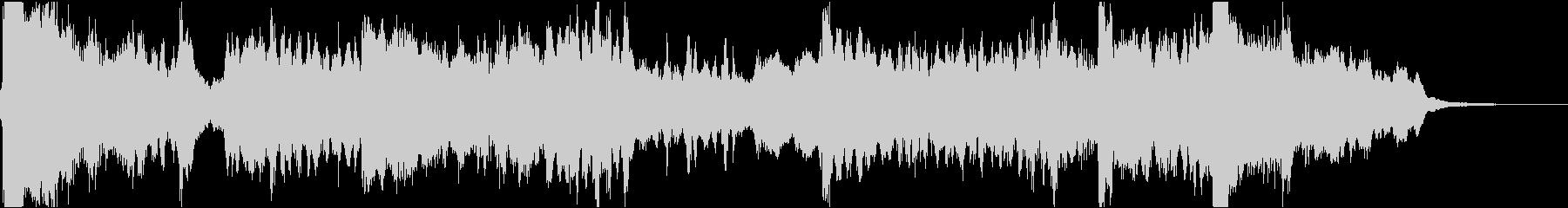 27秒・尺八、琴、弦楽器の静かなジングルの未再生の波形