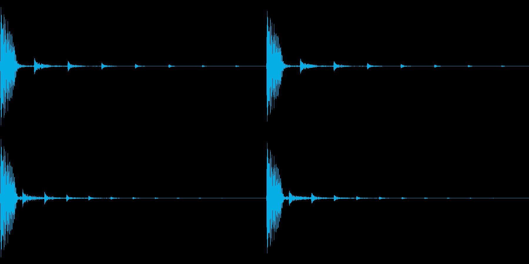 他と違う心臓の音、遠のく意識のような音の再生済みの波形