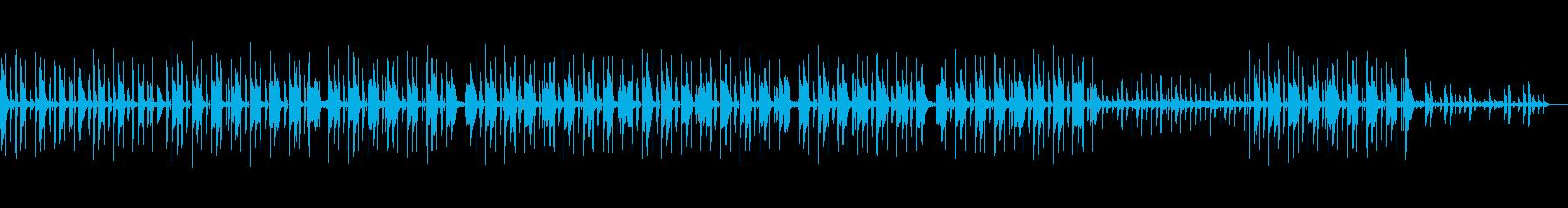 ノリノリのエレクトロ系ヒップホップの再生済みの波形