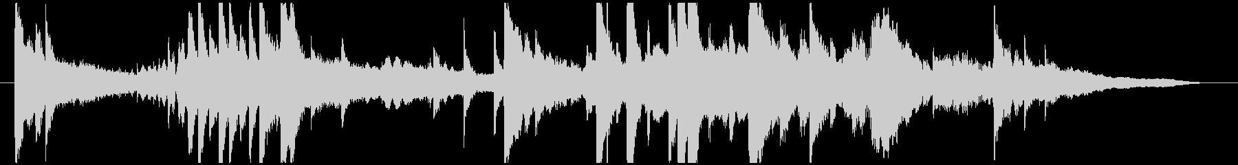 サウンドロゴ・シングル(雨をイメージ)の未再生の波形