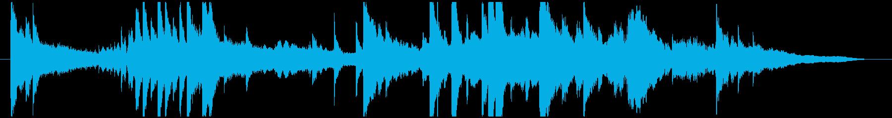 サウンドロゴ・シングル(雨をイメージ)の再生済みの波形