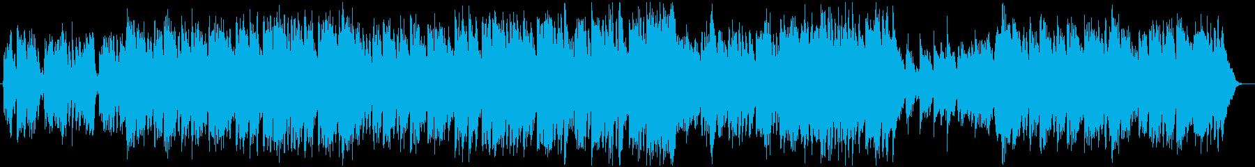 ハロウィンやホラーな雰囲気のBGMの再生済みの波形