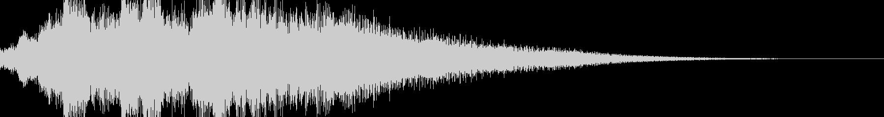 クリックスタート音サウンドロゴ都会的の未再生の波形