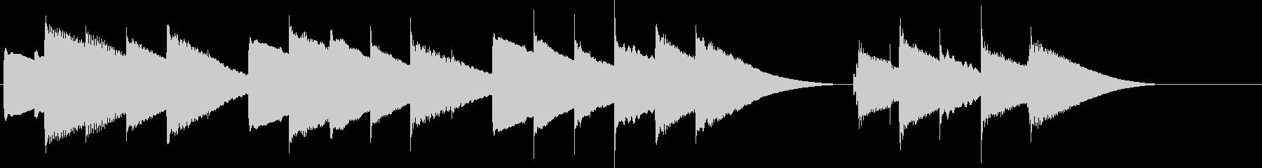 ハッピーバースデー(オルゴール)の未再生の波形