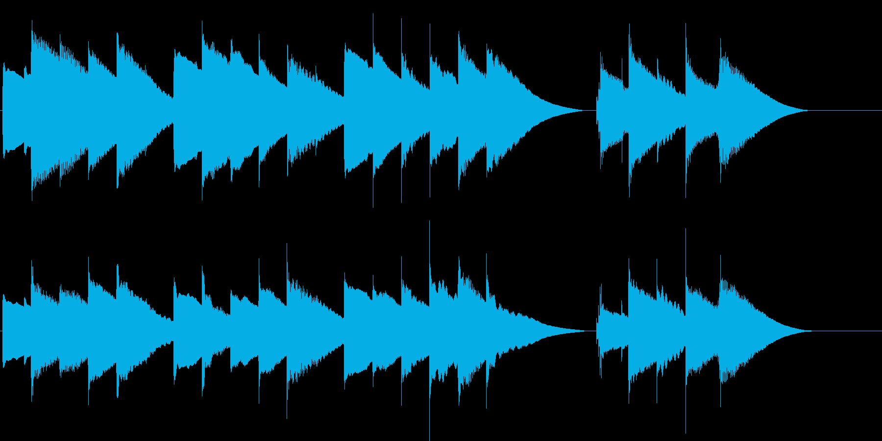 ハッピーバースデー(オルゴール)の再生済みの波形