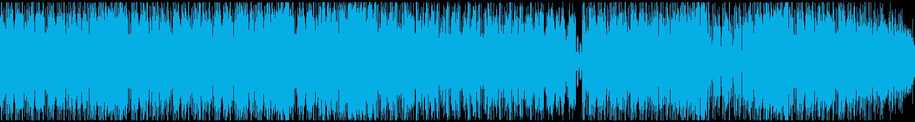 レースゲーム、アミューズメント用BGMの再生済みの波形