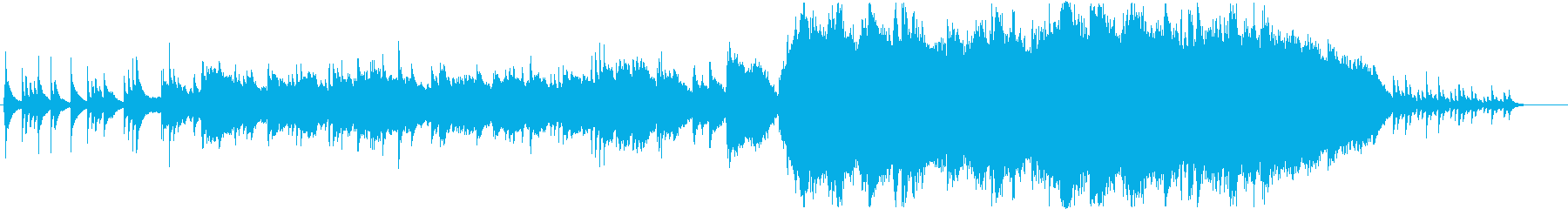 ピアノの旋律が中心のオーケストラの再生済みの波形