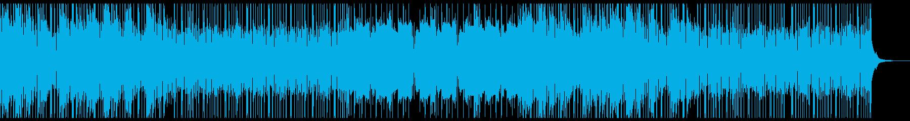 ギターとシンセを使ったサイケなエレポップの再生済みの波形