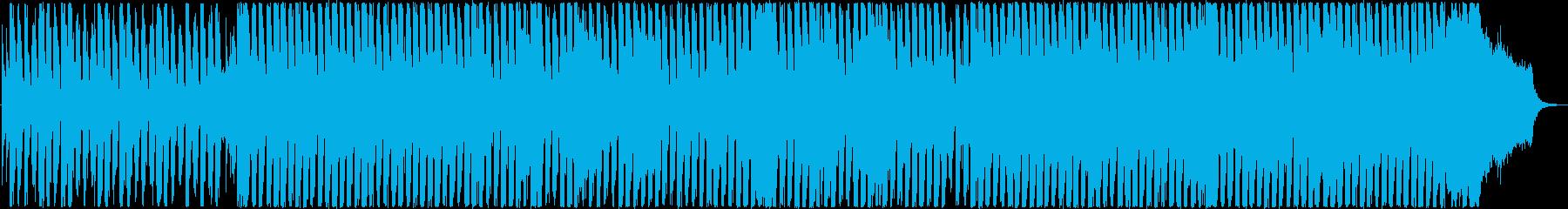 透明感あるピアノのメロディのEDMの再生済みの波形