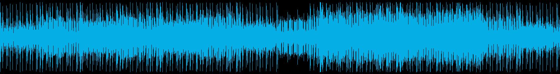ダークなアップミドルサイバー系BGMの再生済みの波形