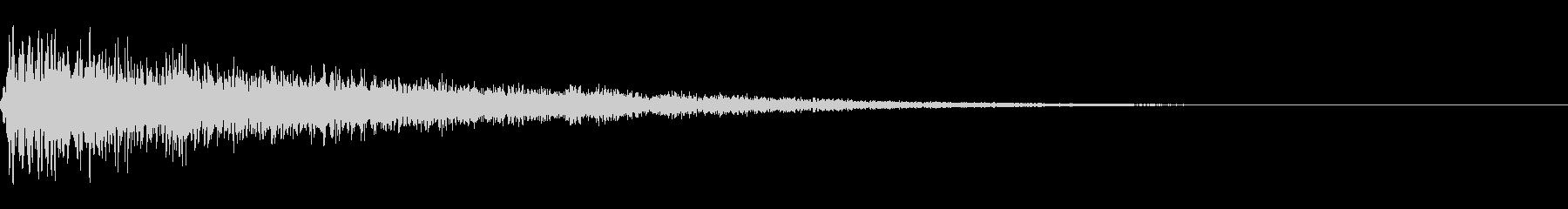 ゴージャスな決定音2の未再生の波形
