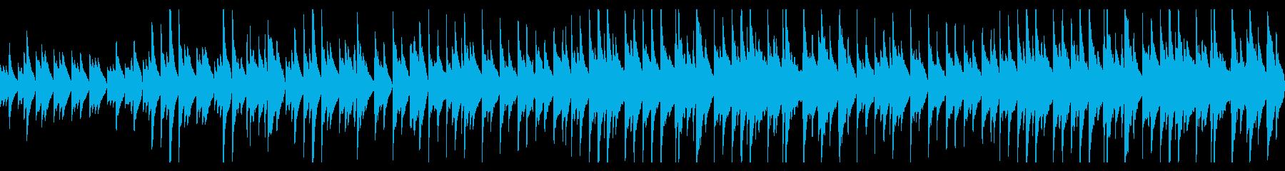 時計とピアノとストリングスのバラードの再生済みの波形