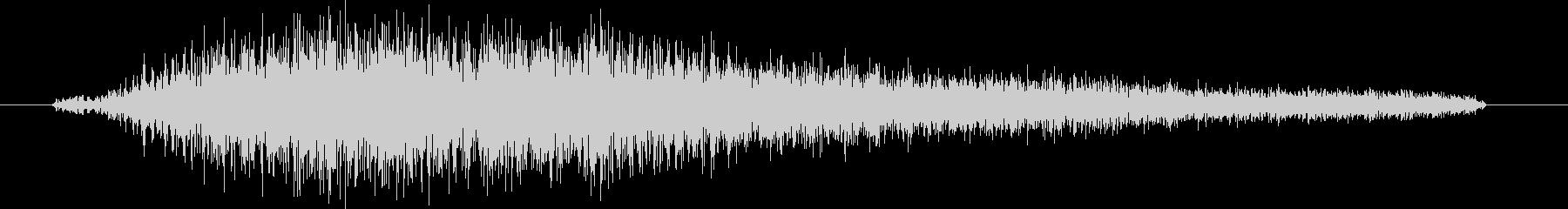 ヘビーテキストフェードインの未再生の波形