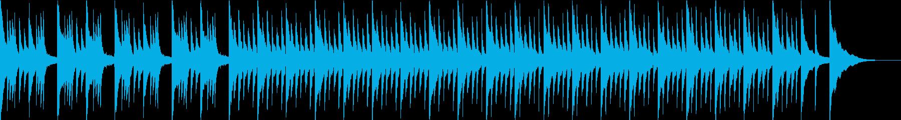 悲しげな雰囲気の憂鬱なピアノ曲の再生済みの波形