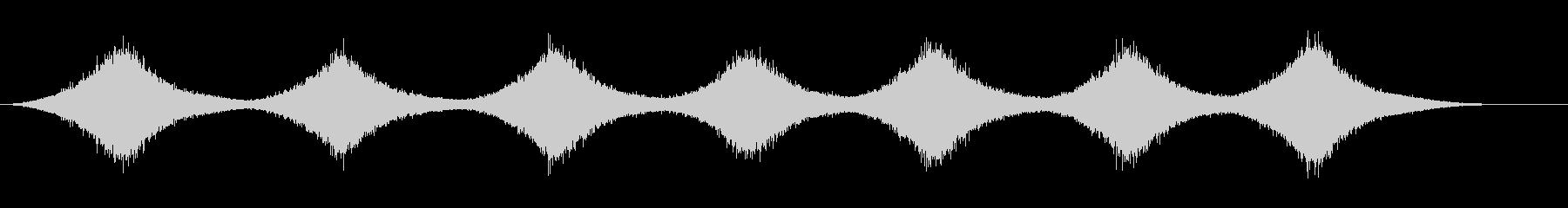 荒波の太平洋の未再生の波形