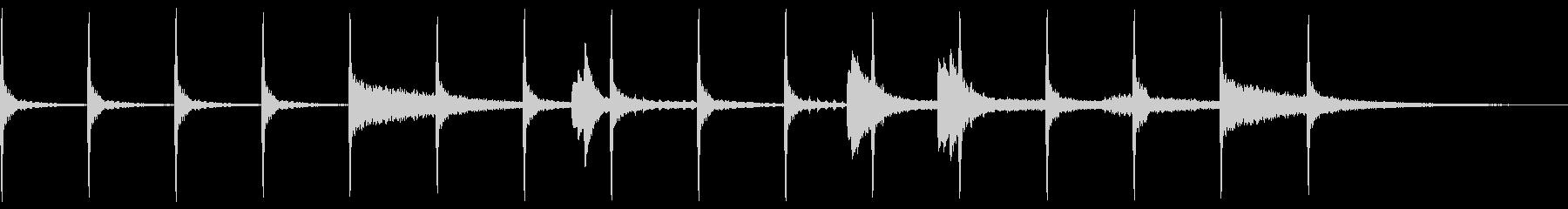 ホラーお化け墓地怖い怪談ハロウィン足音の未再生の波形