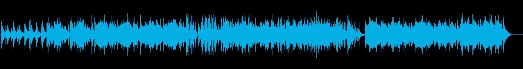 爽やかで軽やかなピアノ曲の再生済みの波形