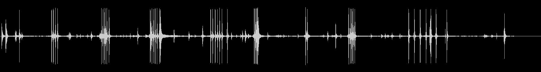 キー付き風の未再生の波形