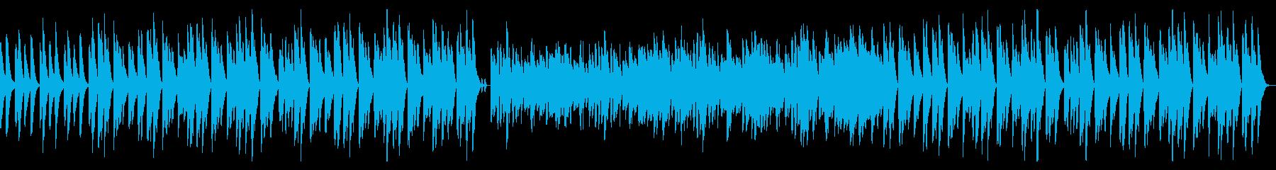 【ループ】ほのぼのかわいい、やさしい木琴の再生済みの波形