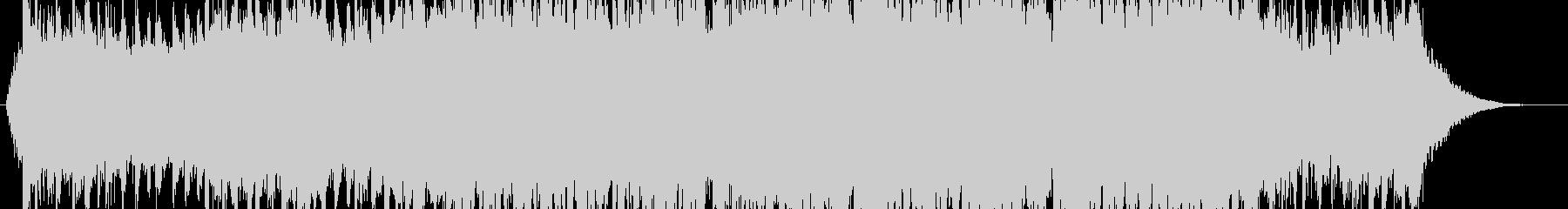 3拍子の物々しい壮大なBGMの未再生の波形