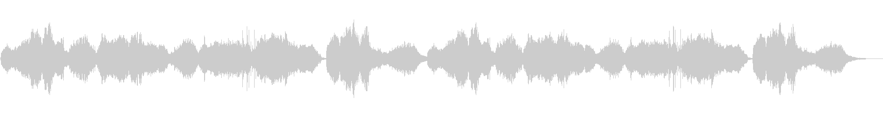 悲しげな生の篠笛とシンセの未再生の波形