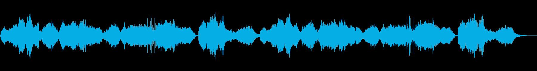 悲しげな生の篠笛とシンセの再生済みの波形