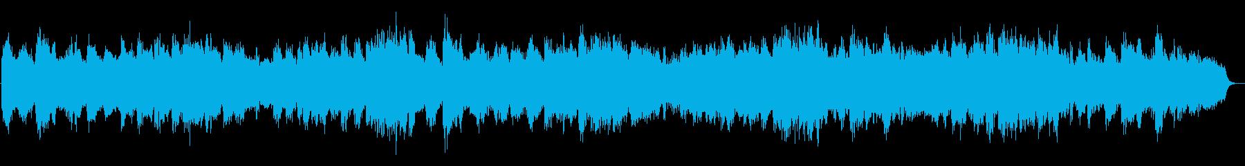 浮遊感のある優しいゆったりBGMの再生済みの波形