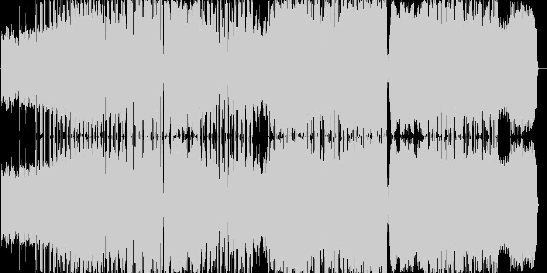 やさしくてゆったりした曲調とラップの融合の未再生の波形