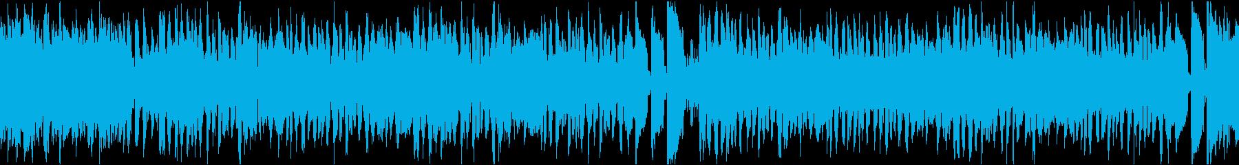 7秒でサビ、電子音コミカル/静かめループの再生済みの波形