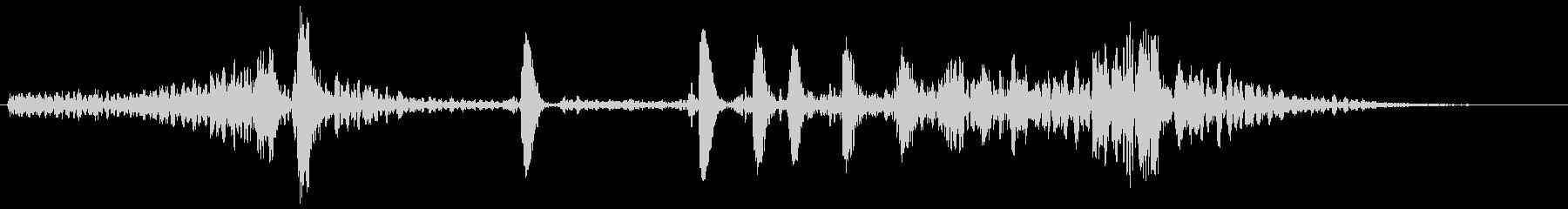 ブーン(浮遊感のある効果音)の未再生の波形