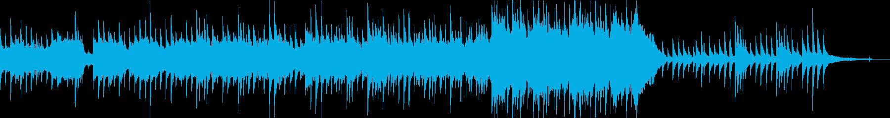 ピアノと弦カルテットの悲しい曲の再生済みの波形