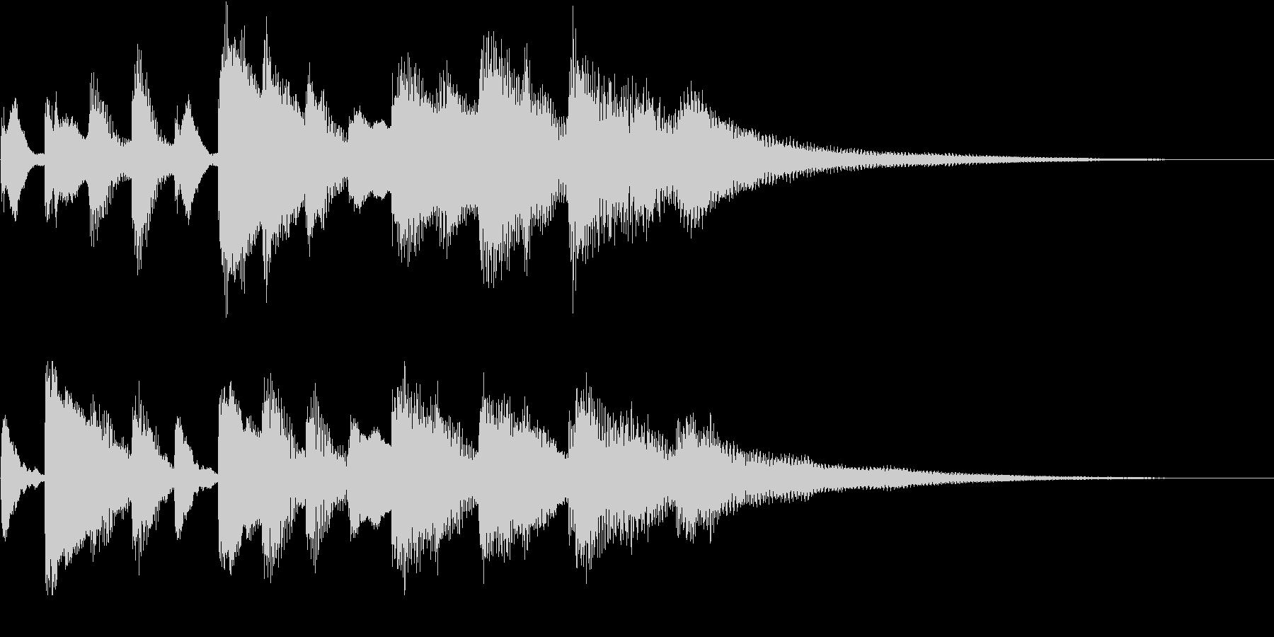 ソナチネの様なピアノのジングル の未再生の波形