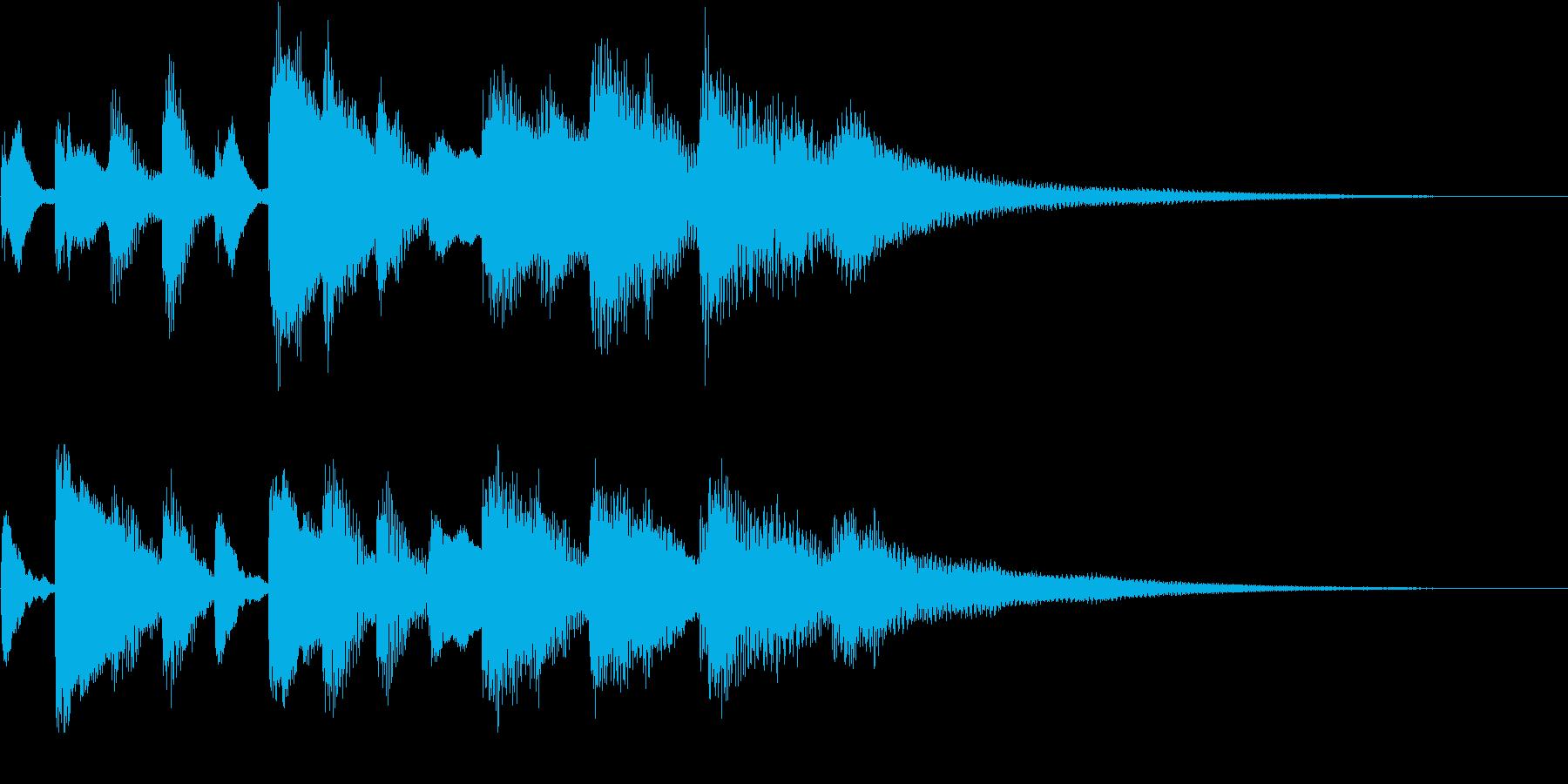 ソナチネの様なピアノのジングル の再生済みの波形