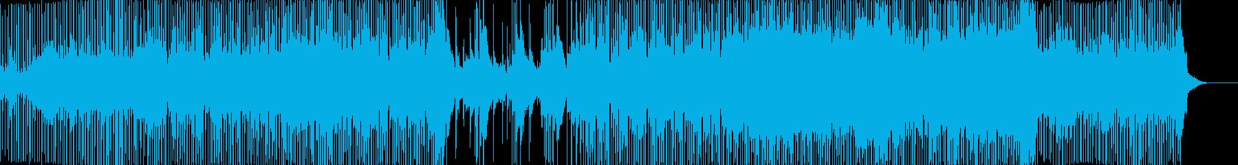 三味線とロックを融合した和テイストな楽曲の再生済みの波形