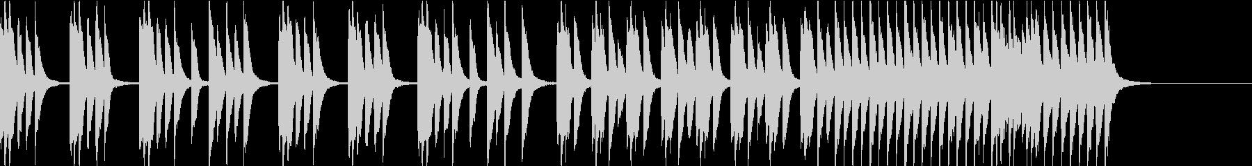 かわいい爽やか軽快なピアノソロ 30秒の未再生の波形