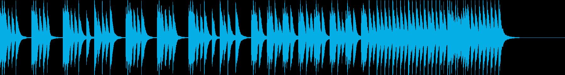 かわいい爽やか軽快なピアノソロ 30秒の再生済みの波形