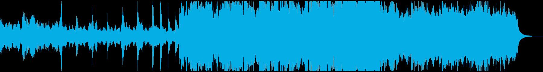 ベルと木管が主体の優しい曲の再生済みの波形