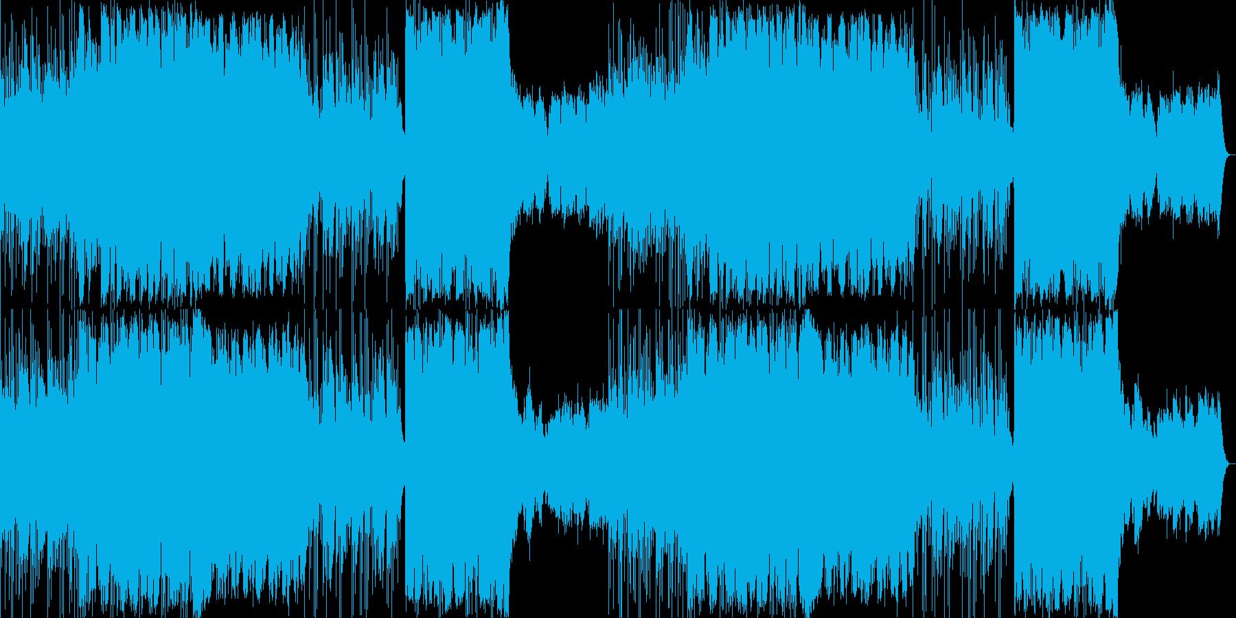 ファンタジーRPGの極東の街などにの再生済みの波形