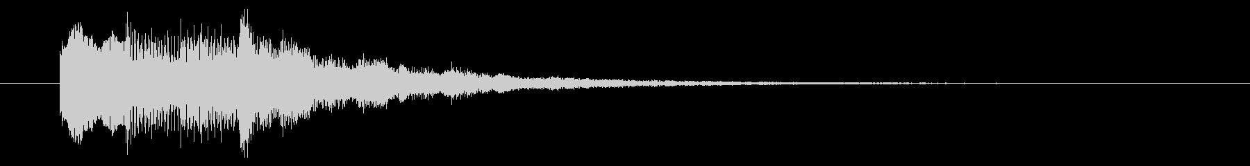 ニュースのテロップをイメージした音09の未再生の波形
