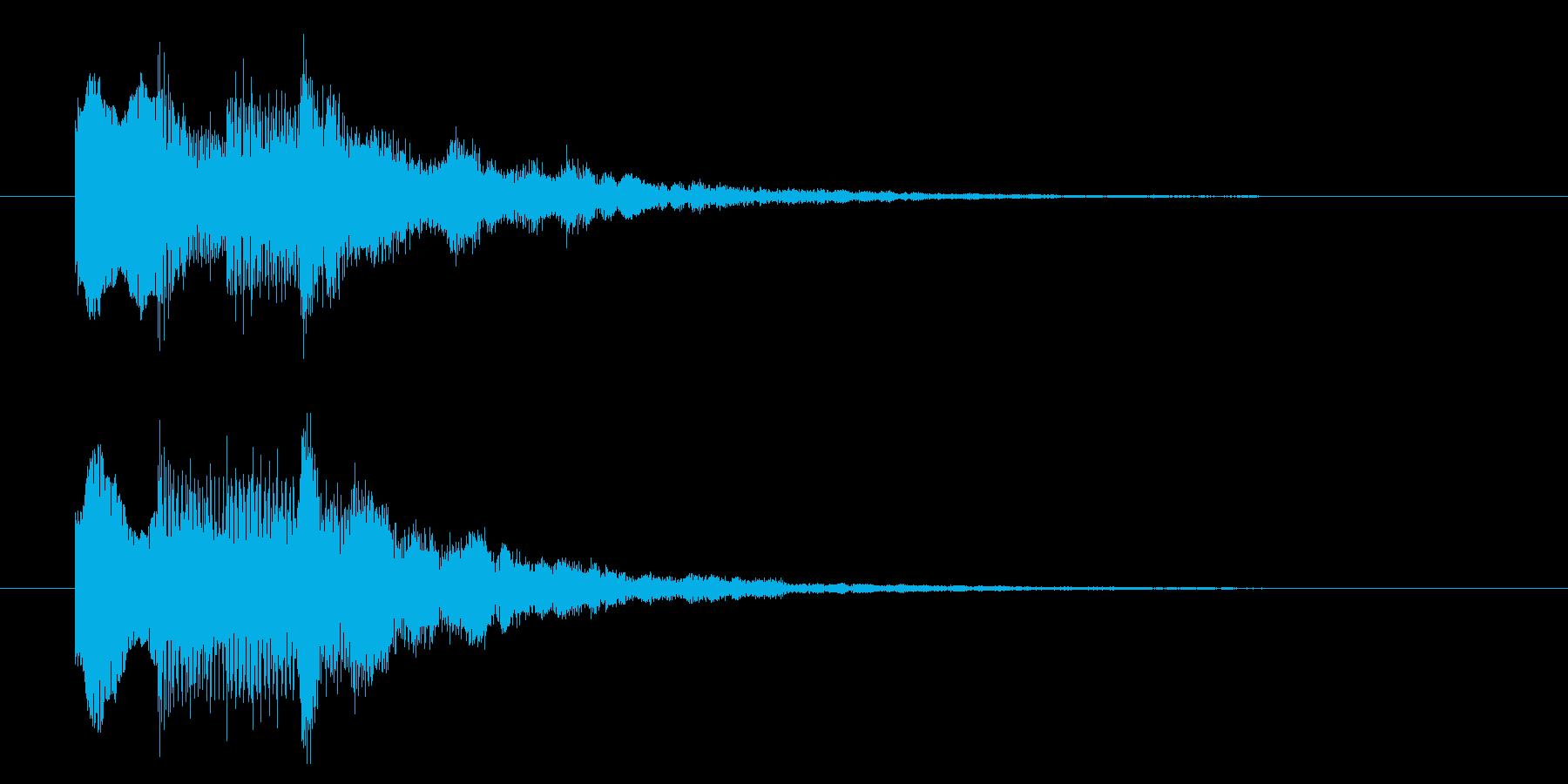 ニュースのテロップをイメージした音09の再生済みの波形