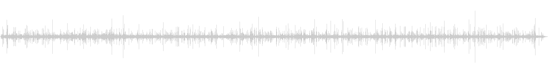 山で録音した清水の音_川の未再生の波形