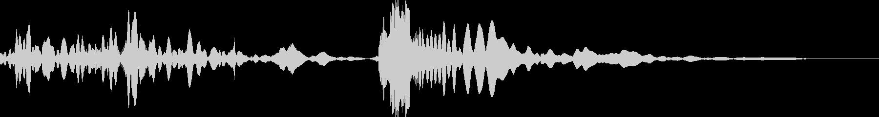 車のギアチェンジの未再生の波形