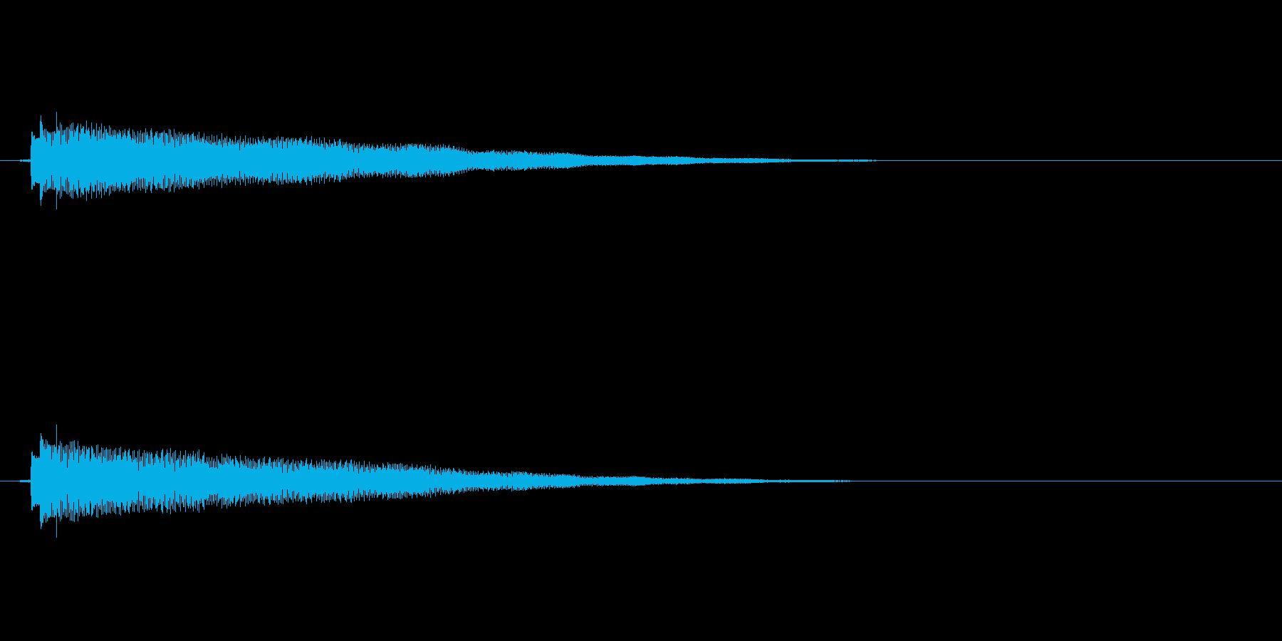 クリーントーンのエレキギターの再生済みの波形