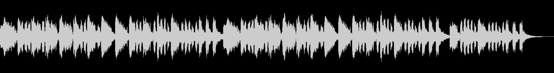 オカリナ・アコースティックギター子守唄の未再生の波形