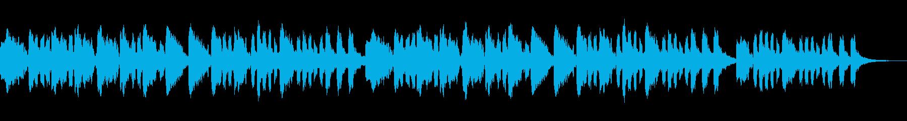 オカリナ・アコースティックギター子守唄の再生済みの波形