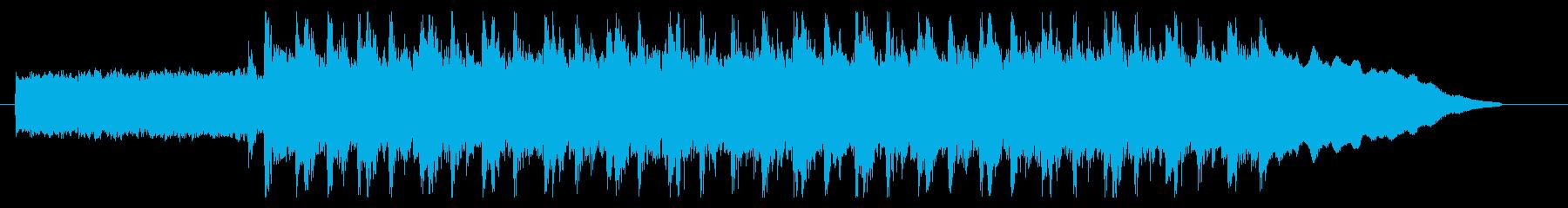 【エレキギター】疾走感のあるロックの再生済みの波形