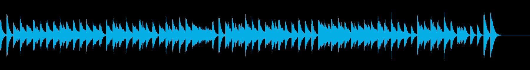 中世ヨーロッパを思わせるピアノジングルの再生済みの波形