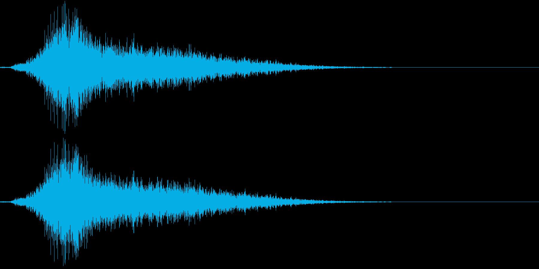 嵐の日の突風の再生済みの波形