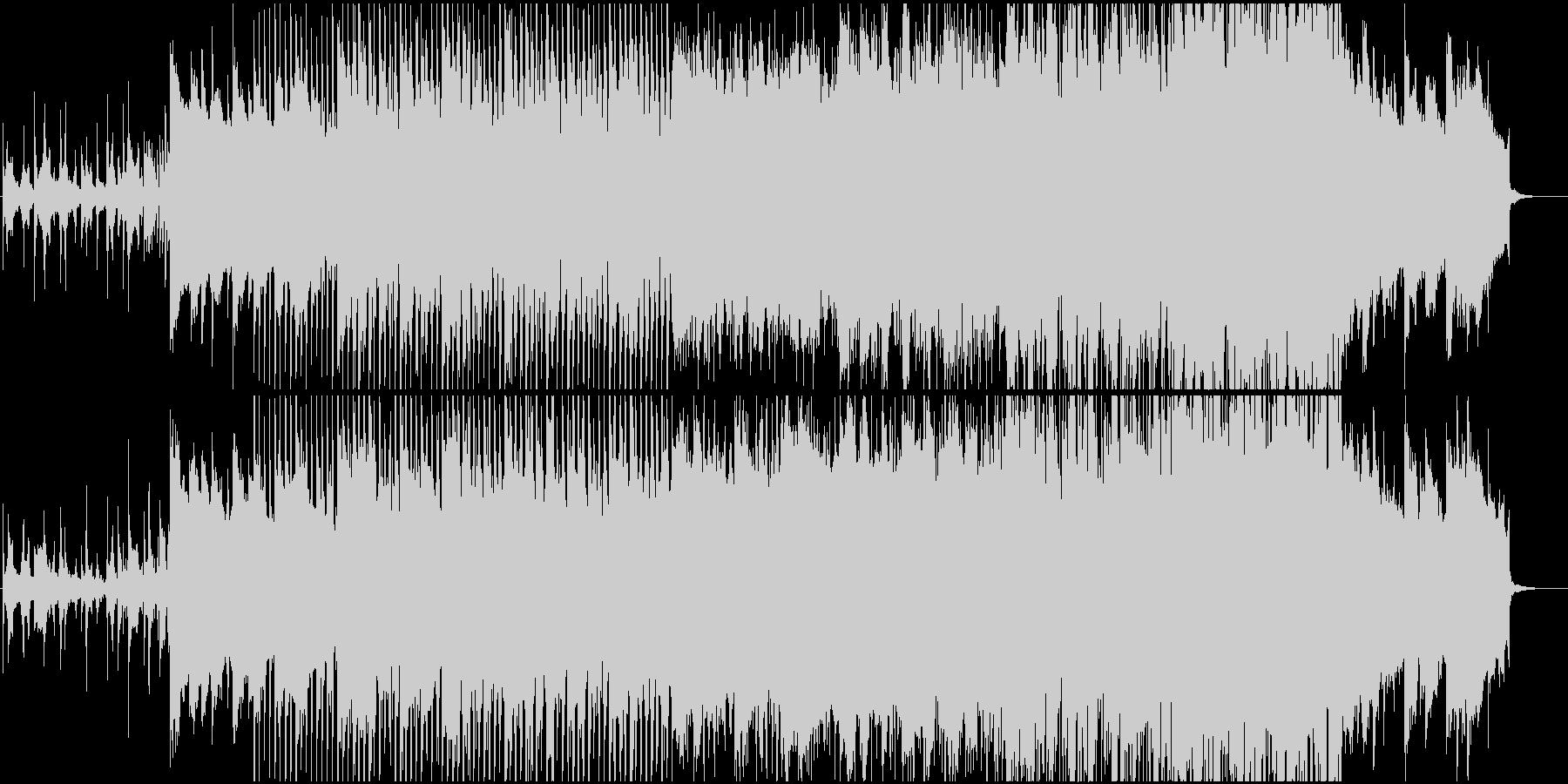 ピアノが印象的なエレクトロニカ、映像等にの未再生の波形