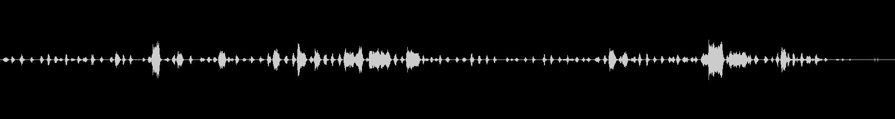 ヘンズ、クワイエット、バーン、バー...の未再生の波形